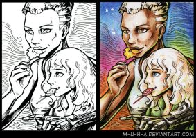 ACEO GD Joe and Nikol by m-u-h-a
