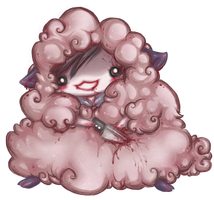 Jeff the Killer Sheep Chibi by Riftress