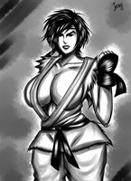 Street Fighter Ryu Genderbend-Ryuuku (INK Sketch) by JassyCoCo