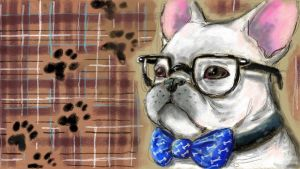 [WiiU drawings] hipster dog by vanazza
