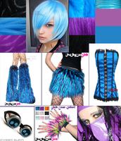 Future Cyber Goth Rave Outfit by rainbowchick201
