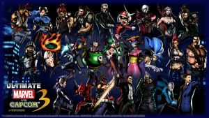 UMVC3 Wallpaper -Capcom 1- by werewolfgold