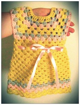Crochet Baby Summer Dress by Coccis