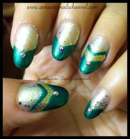 Easy Chevron Nails by Gorgeousnails