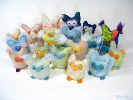 Owlets Batch 1 by Lithe-Fider