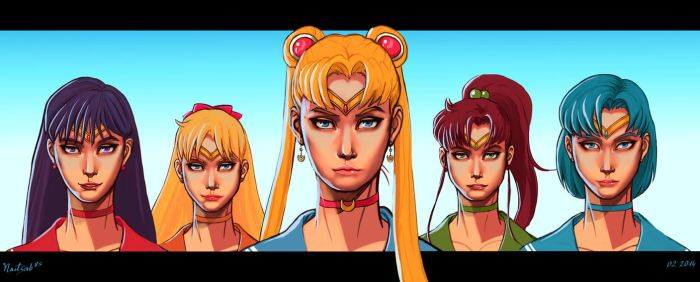 Sailor Moon: 5 Warriors by Naitsab85