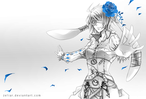 Commission - Blue Rose by zefiar