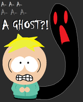 A GHOST, South Park, Butters by ScrewStudying