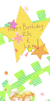 HBD RIN AND LENN by xxMontBlancxx