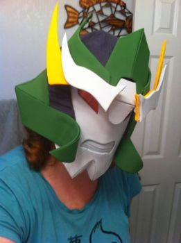 Transformers Prime Skyquake Helmet (complete) by miraibaby