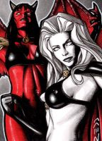 Lady Death and Purgatori by J-Redd