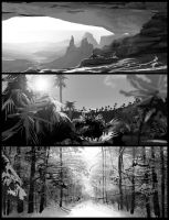 Day 8 Landscape b/w practice by Oeasis