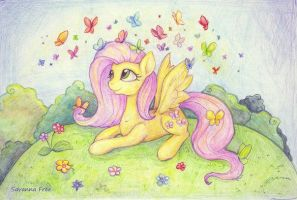 Fluttershy. MLP. by FreeSavanna