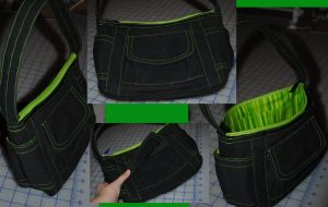 Green and Black Purse by rabid-llama