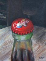 Coca Cola Painting by randomranma