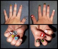 Sherlock Nails by HermioneFrost