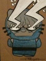 Darkseid Omega beams kitty by TomKellyART