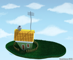 The Flying House by TheZakMan