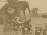 Townsfolk from Another Time (Sepia Tone) by Duckyworth