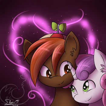 Button Mash and Sweetie Belle by Silverfox057