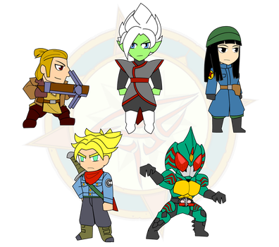 Assorted Chibis - Supers and Amazon by Dragon-FangX