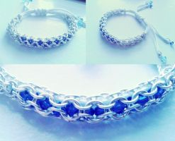Inverted Round Chainmaille Bracelet Moon Light by TotenKuss