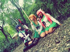 HighSchool of the dead girls cosplay by LadyNoa