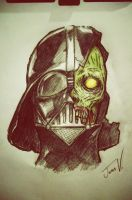 Zombie Darth Vader by an0ther-artist
