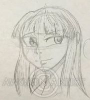 Sketch Art: Vampire Knight OC - Alices smile by AnimeEmm