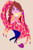 Natalie and her dumb giraffe by ennemme