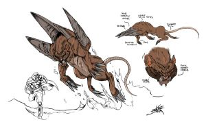 The Digger Creature Concept by neurowing