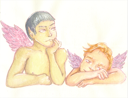 {Spirk Advent} ~ Day 07 Cherubs by AmberSquash