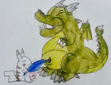 request 182:goblin dragon being tickled by Marcus by s3be