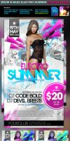 DnB Electro Summer PSD Flyer by quickandeasy1