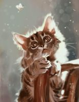 mandatory daily cat sketch 3737 PS by nosoart