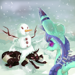 glace and umbre in the snow by cradiIy