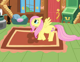 Fluttershy at home by ItsTheWhinyGuys