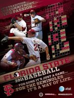 Florida State Baseball Poster by BHoss1313