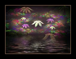 FLOWERS BY THE POND by live2b