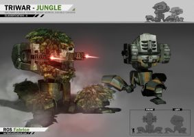 Concept Vehicule TRIWAR - JUNGLE by ROS-Fabrice