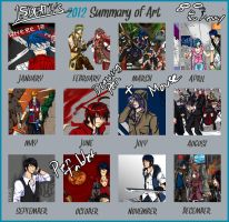 2012 summary of art by 15DEATH