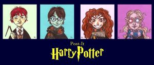 POST IT HARRY POTTER by QuinteroART