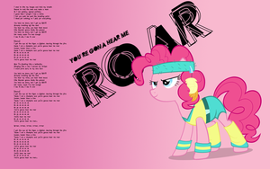 Roar pinkie wallpaper by Timexturner