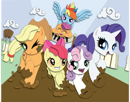 Commission:  Sisterhooves Social Shadowbox Mock-up by The-Paper-Pony
