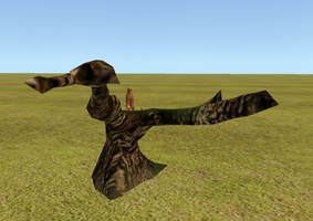 Climb-able dead tree mesh by Mossasaurus