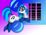 Vinyl Scratch Beat it, colored by goina