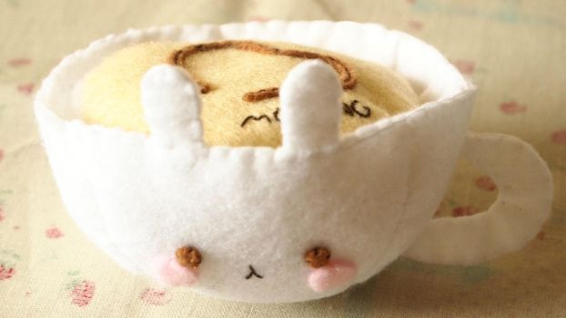 Molang Cappuccino Plushie by Tammyyy