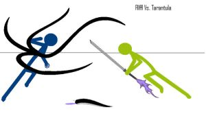 Fllffl Vs. Tarantula by cvcs66