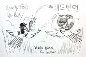 Rhythm Falls Fever (Air Rally) by komi114