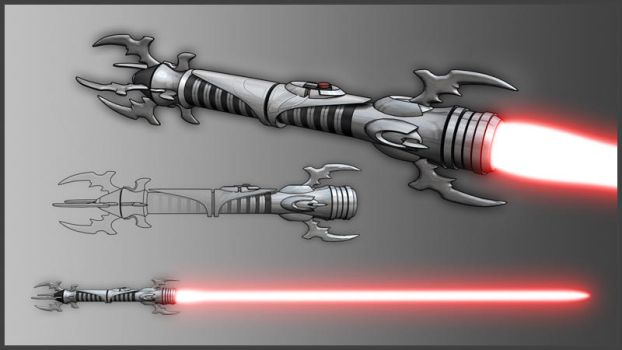 Sith Lightsaber Hilt by broodofevil